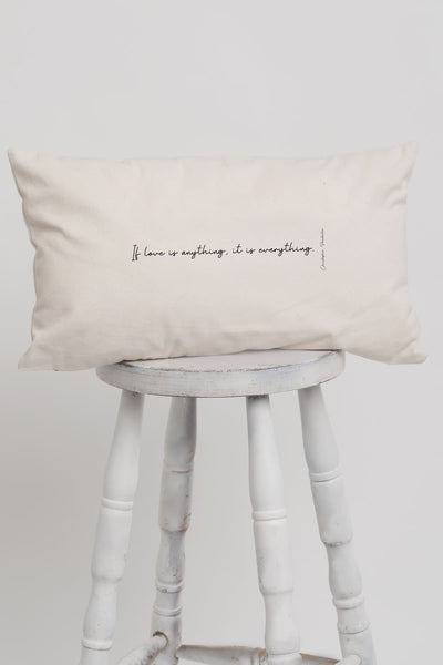 """Love Is Everything"" Long Pillow"
