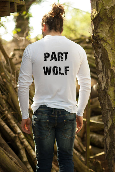 """Part Wolf"" Long Sleeve Mens Tee"