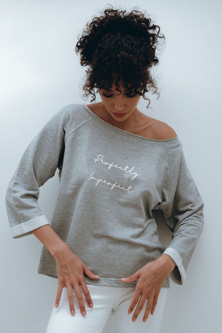 """Perfectly Imperfect"" At Home Sweater"