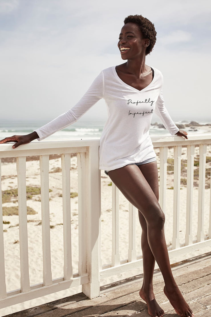 """Perfectly Imperfect"" Long Sleeve V Neck"