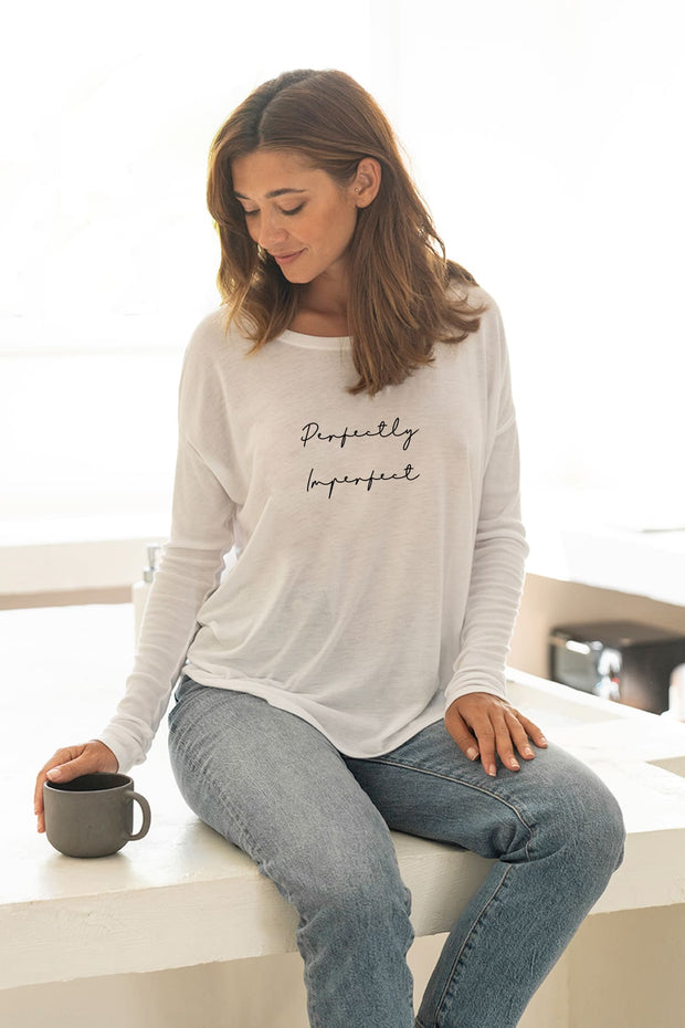 """Perfectly Imperfect""  Long Sleeve Tee"