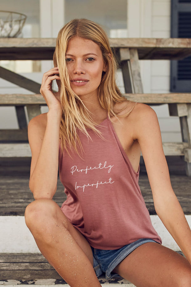 """Perfectly Imperfect"" High Neck Tank"