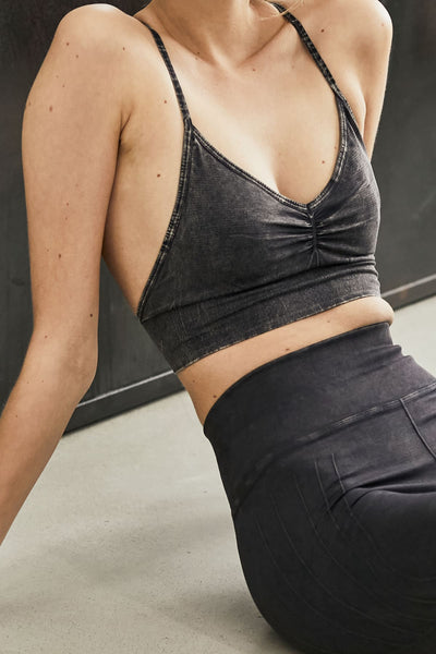 Smokey Quartz Premium Flex & Flow Yoga Bra