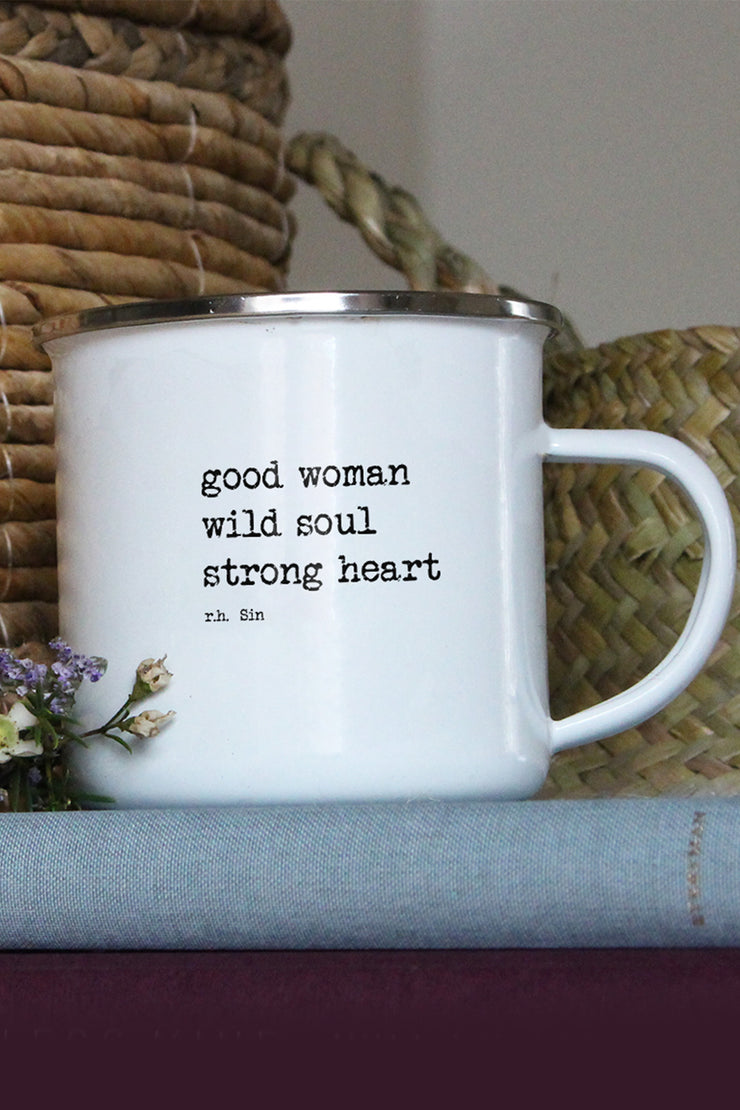 """Strong Heart"" Enamel Mug"