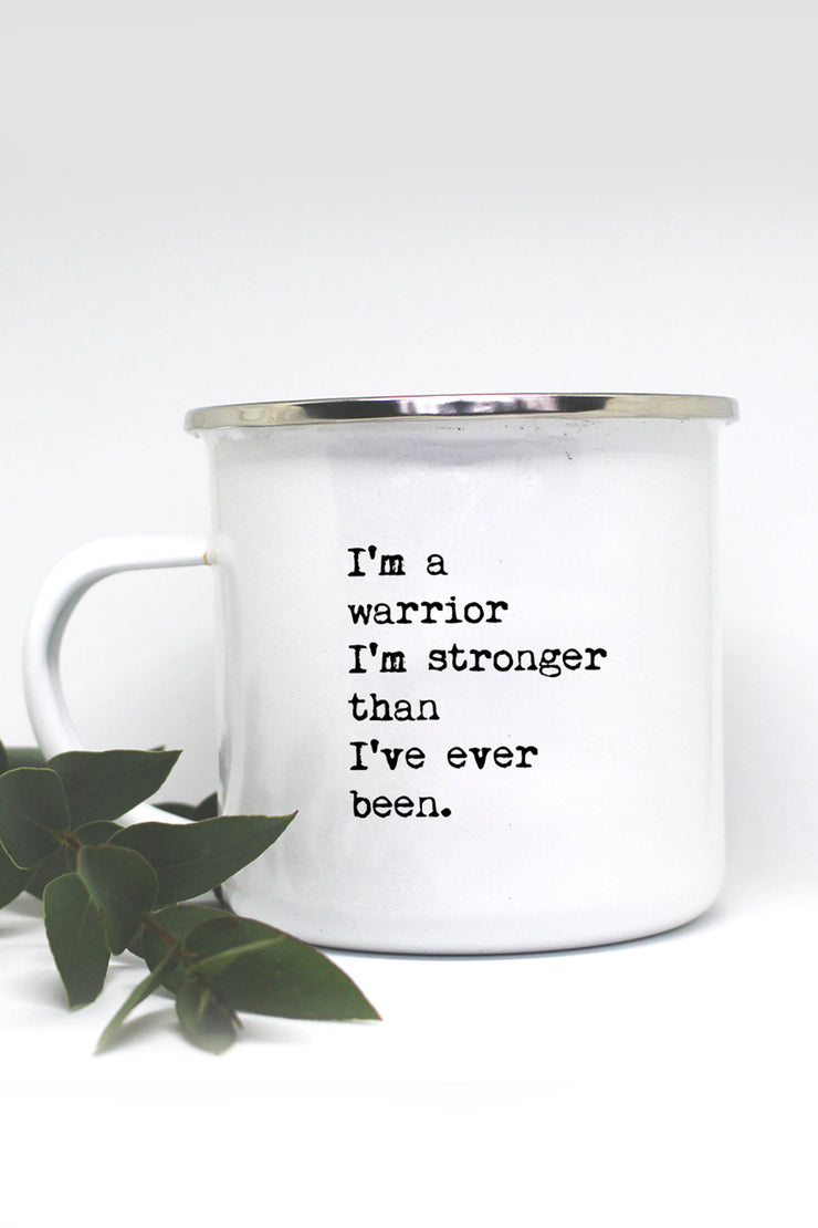 """Warrior"" Enamel Mug"