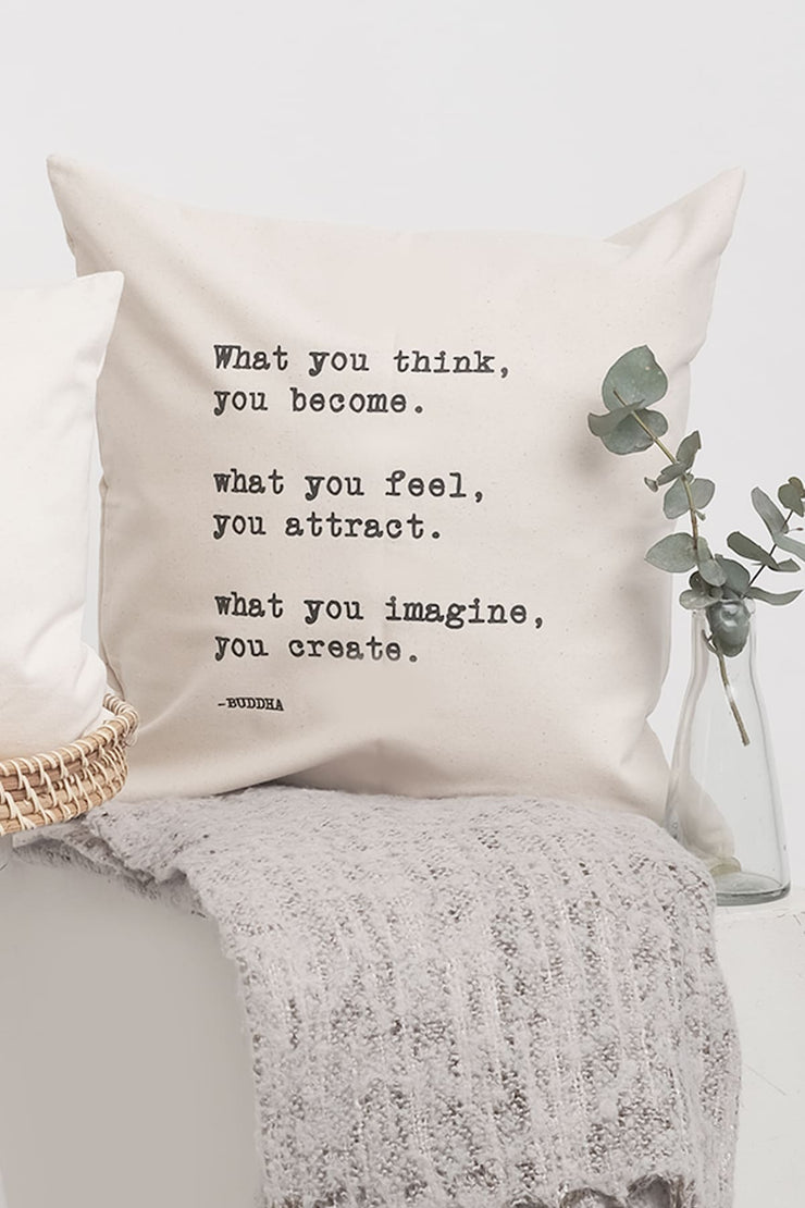"""What You Think"" Cushion Cover"