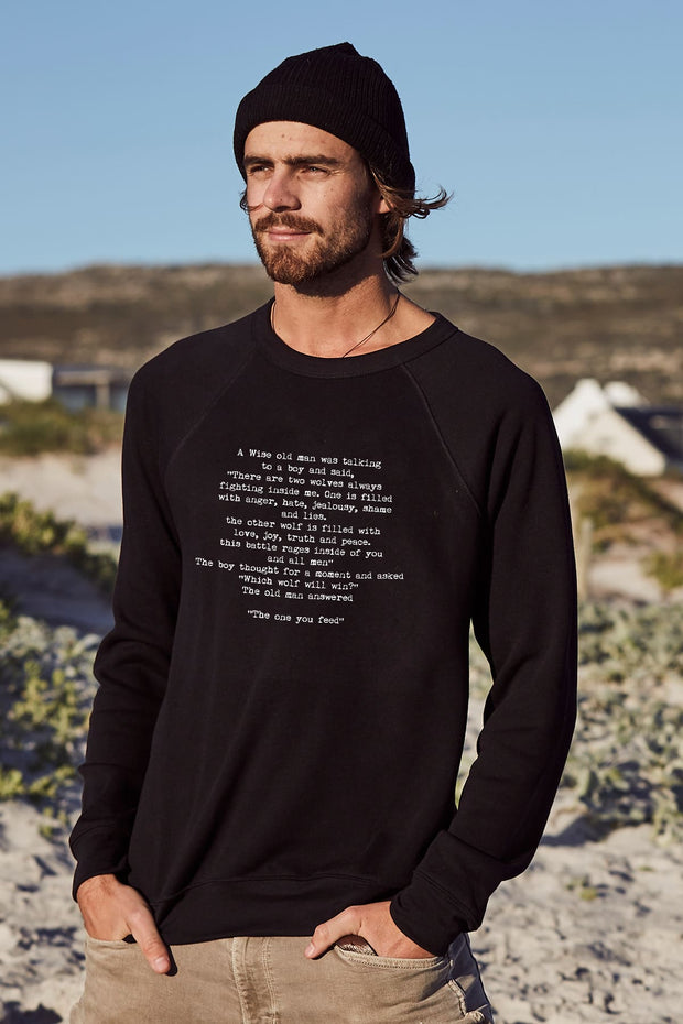 """Wise Words"" Mens Sweater"