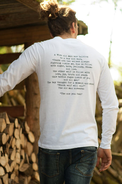 """Wise Words"" Long Sleeve Mens Tee"