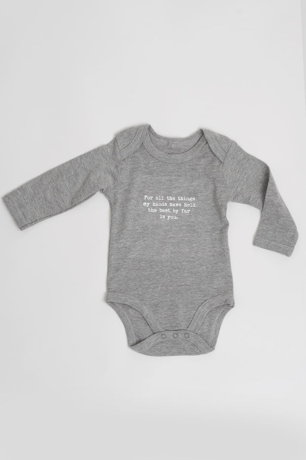 """You"" Organic Long Sleeve Baby Grow"