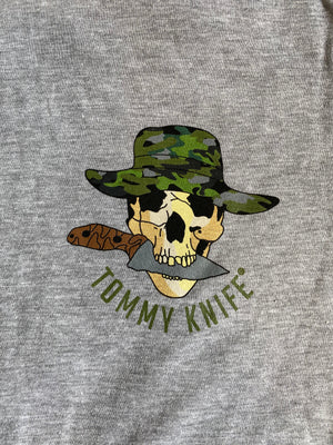 Tommy Knife® Short Sleeve (Black / Heather Gray)