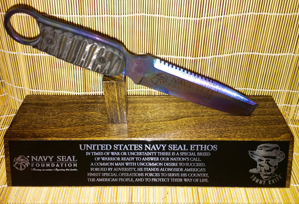 NAVY SEAL Foundation Flat Tip Dive Tommy Knife