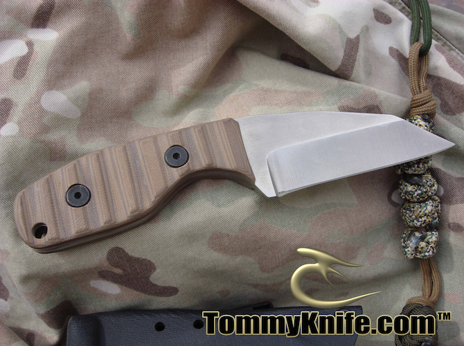Tommy Knife Mini T Fixed Blade Tan