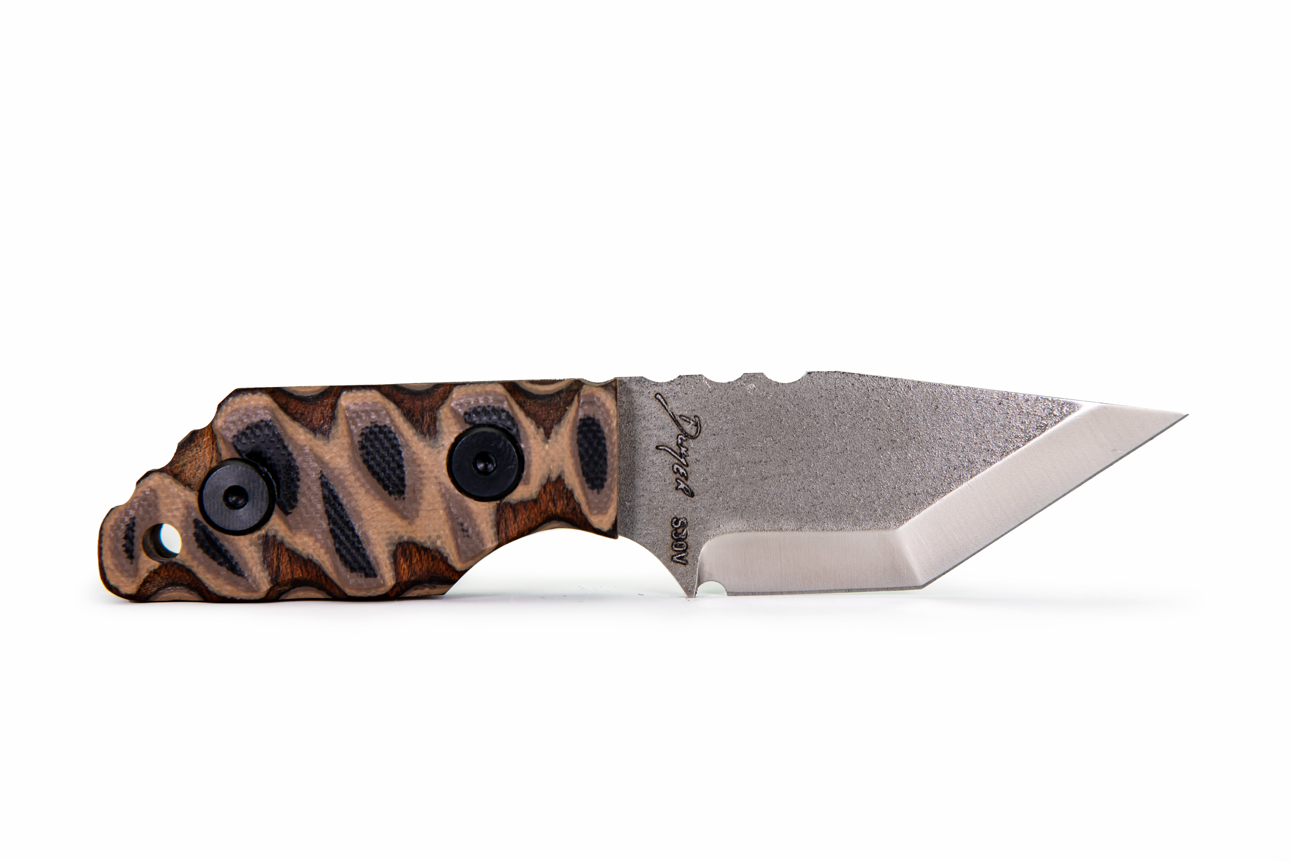Tommy Knife® TK-C with Layered Wood & G10 Caveman Grip