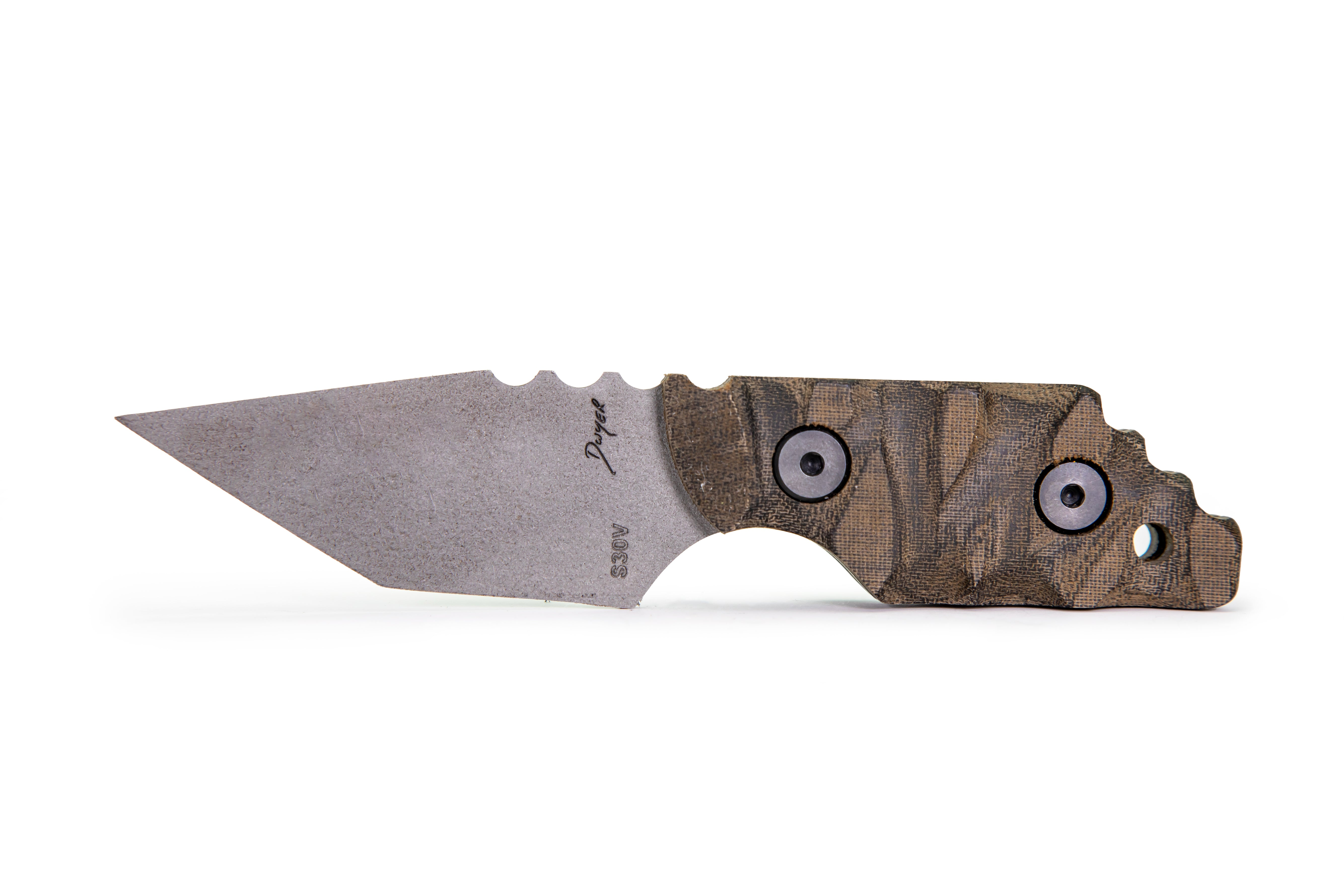Tommy Knife® Charlie with Micarta Caveman Grip - Right Grind