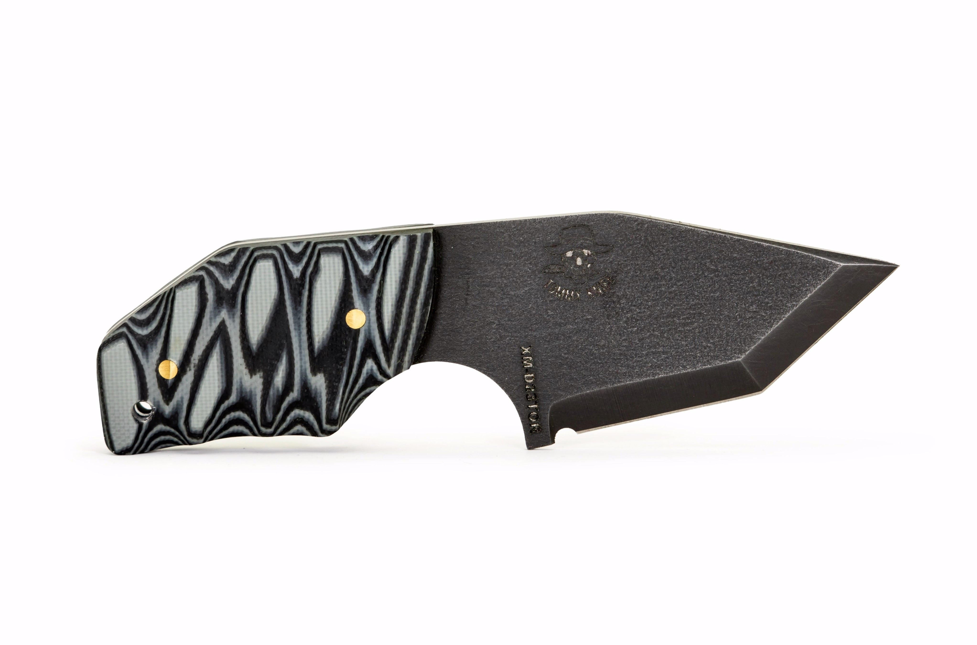 Tommy Knife® Delta with Layered G10 Caveman Grip - Right Grind