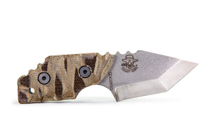 Tommy Knife® Delta with Micarta Caveman Grip - Right Grind