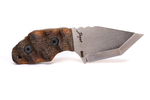 Tommy Knife® Delta with Caveman Micarta Grip - Right Grind