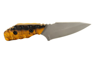Tommy Knife® Bravo with Lignum Vitae Wood Caveman Grip