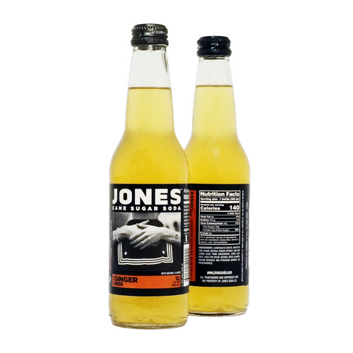 12-pack of JONES Ginger Beer Cane Sugar Soda