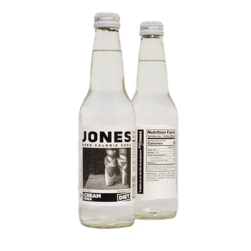12-pack of JONES Sugar Free Cream Soda