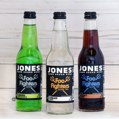 12-pack of JONES Limited Edition Foo Fighters Cane Sugar Soda