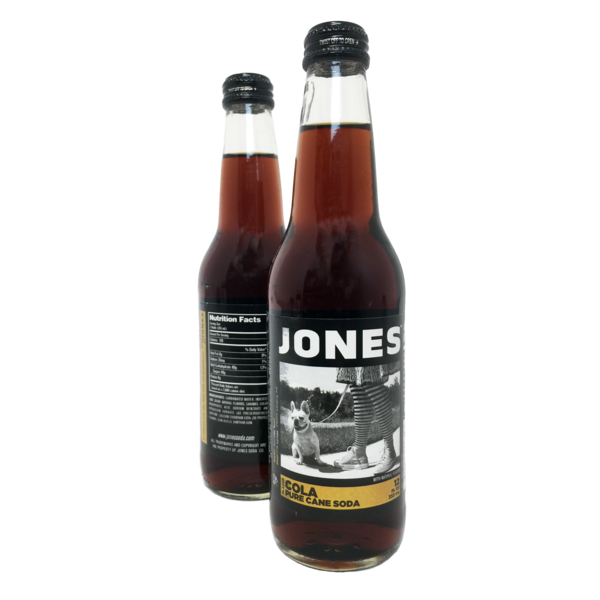 12-pack of JONES Cane Sugar Cola