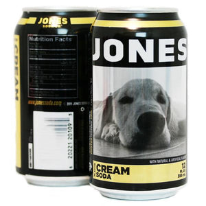 24-pack of JONES Cream Soda Cane Sugar Soda in Cans