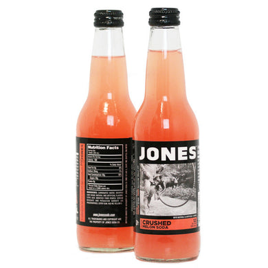 12-pack of JONES Crushed Melon Cane Sugar Soda