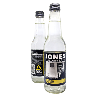 12-pack of JONES Lemon Lime Cane Sugar Soda