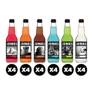 24-pack Variety Pack Jones Cane Sugar Soda (4 of each flavor)