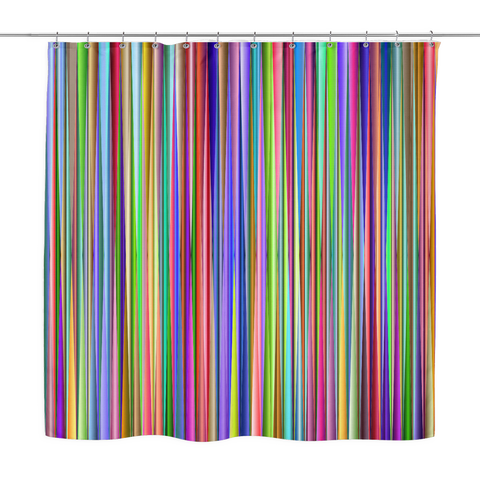 Multicolor Stripes Shower curtain