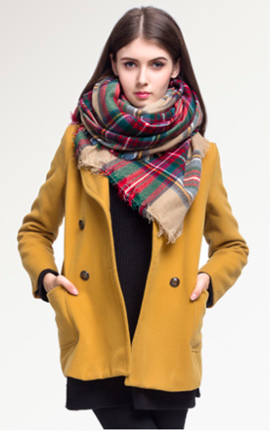 Warm Beautiful Scarves Plaid