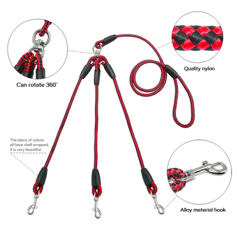 Triple Dog Lead Leash