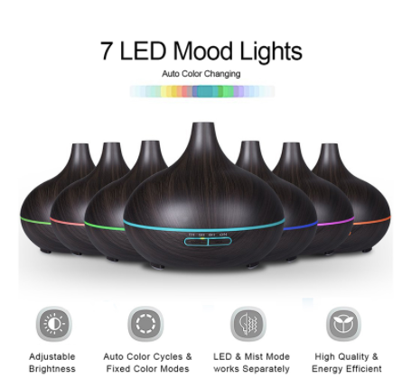 Essential Oil Diffuser Lamp - Light and Dark Color
