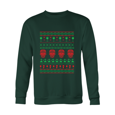 Ugly Christmas Sweater - Skulls Color - 50% OFF
