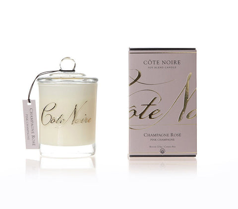 Côte Noire  | 185g Silver Candle | Pink Champagne