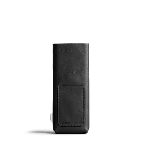 Memobottle | Leather Sleeve | Slim | Black
