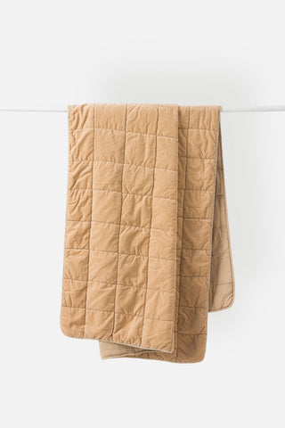 Citta | Washed Velvet Quilted Throw | Crumb