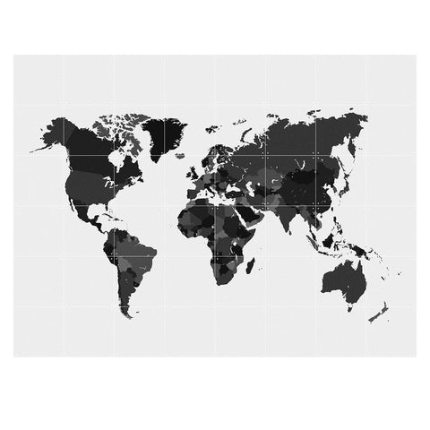 World Black and White Wall Art