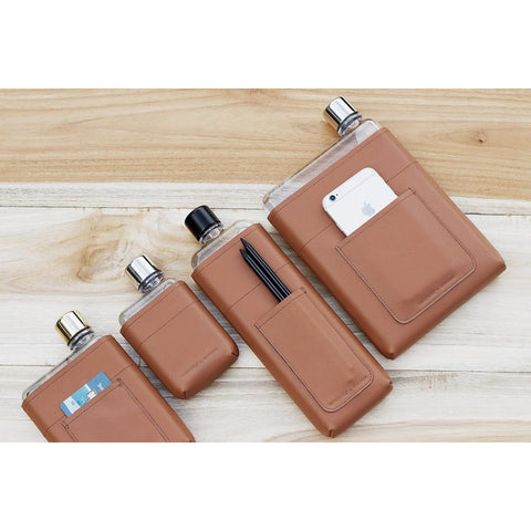 Memobottle | Leather Sleeve | A5| Tan