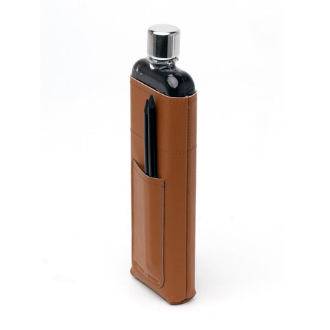 Memobottle | Leather Sleeve | Slim | Tan