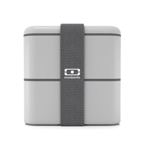 Mb Square Lunch Box | Monbento | Light Grey / Cotton