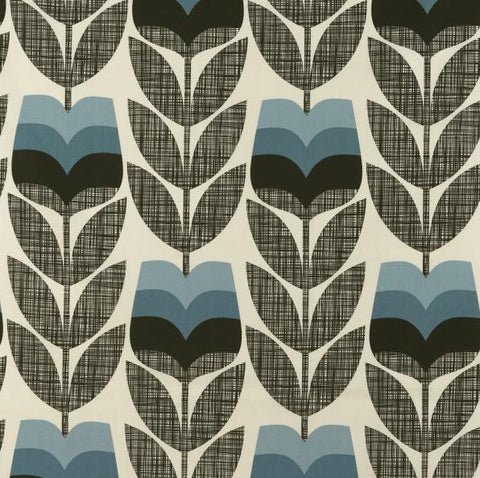 Orla Kiely | Fabric | Rose Bud | Powder Blue