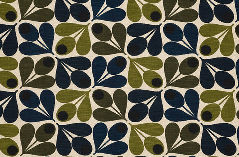 Orla Kiely | Curtain| Slub Cotton Acorn Cup Dark Marine