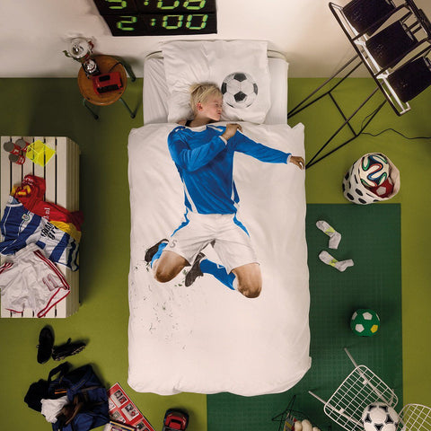 Soccer Champ Blue Duvet Set