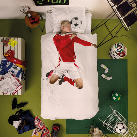 Soccer Champ Red Duvet Set