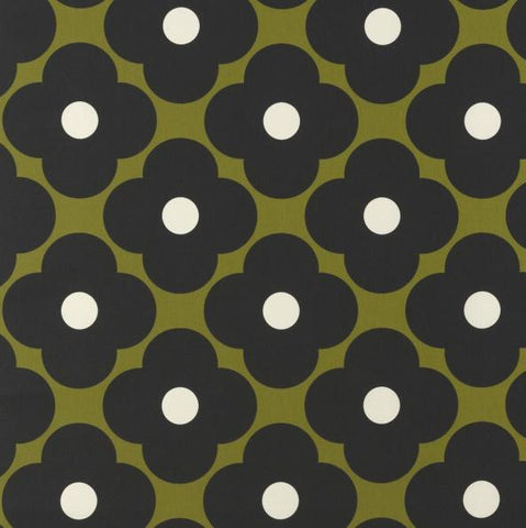 Orla Kiely | Fabric | Spot Flower | Seagrass