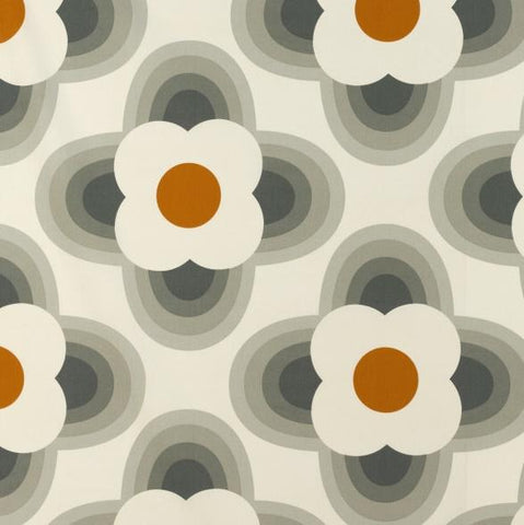 Orla Kiely | Fabric | Striped Petal | Orange