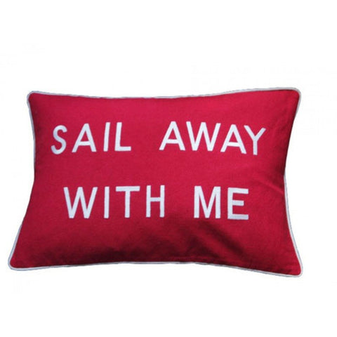 Barbara Coupe Cushion Red Sail away with me.