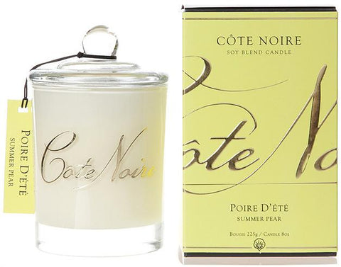 Côte Noire | 185g Gold Candle | Summer Pear